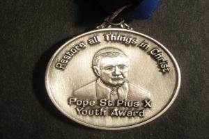 Pope St Pius X award