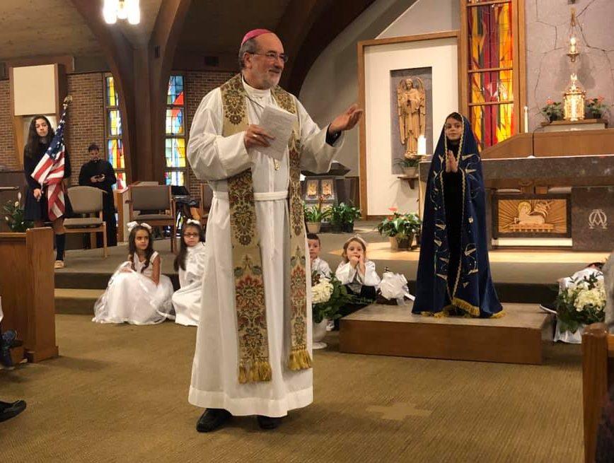 Our Lady of Aparecida Celebration with Bishop Edgar da Cunha and St. Pius X School, Yarmouth